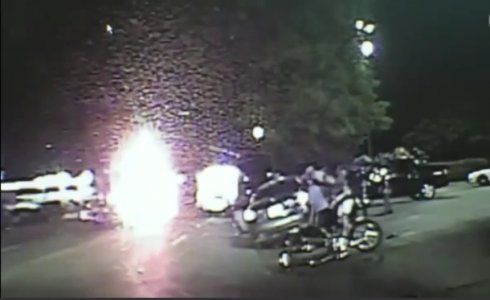 Trapped motorcyclist rescue