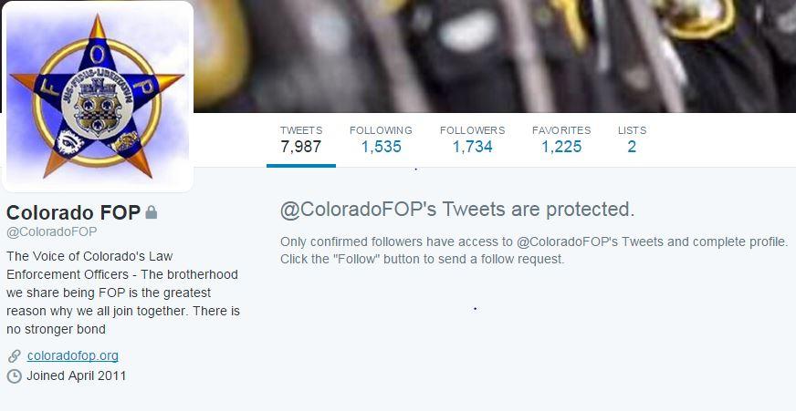 ColoradoFOP Twitter