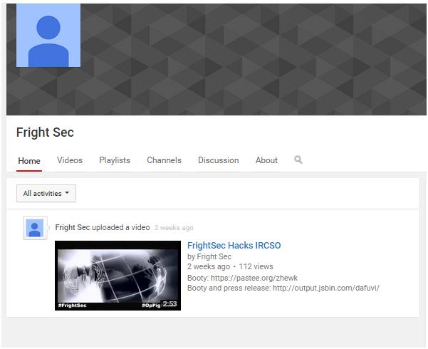Frightsec YouTube
