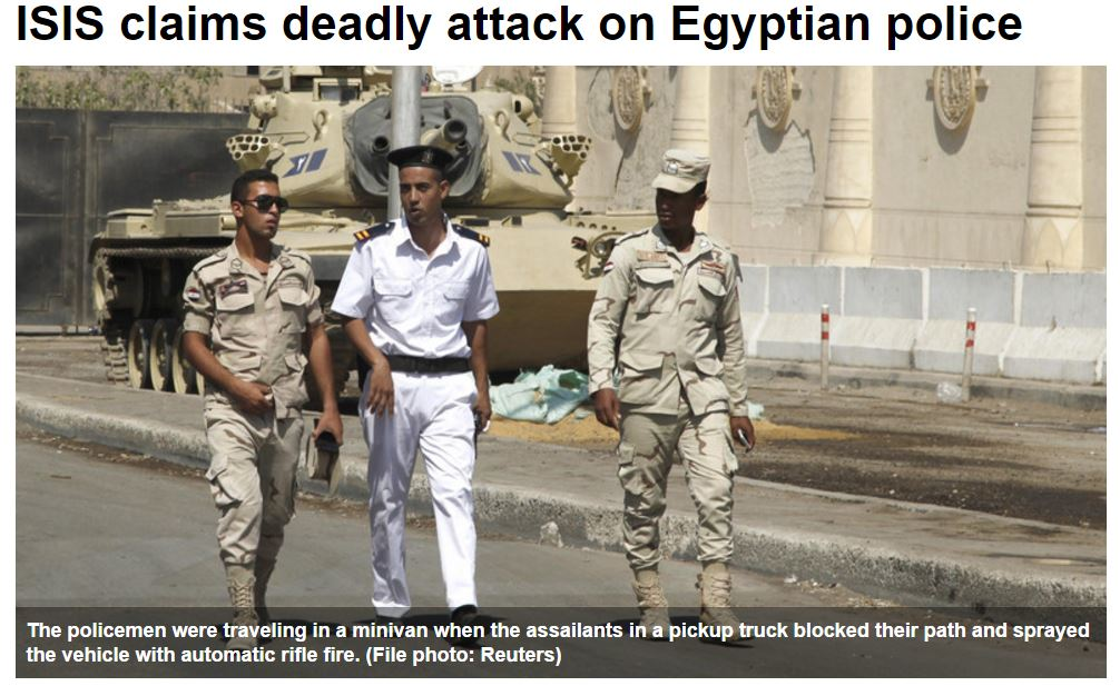 ISIS Cop attack egypt