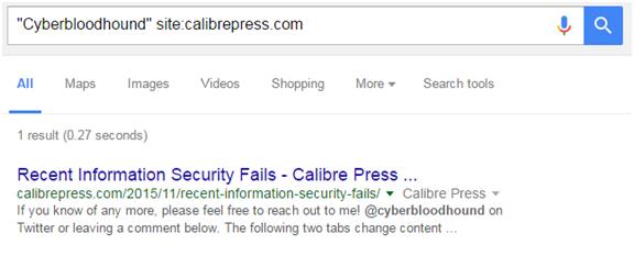 Cyberbloohound sitecalibrepress