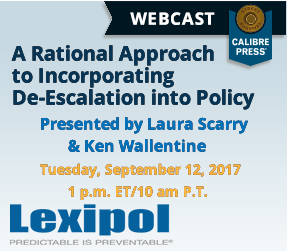 A Rational Approach to Incorporating De-escalation into Policy